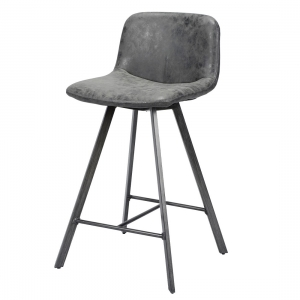 Barkruk-design-vintage-zwart
