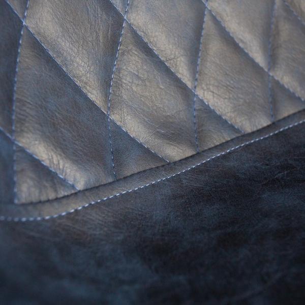 Barkruk vintage blauw metalen poot