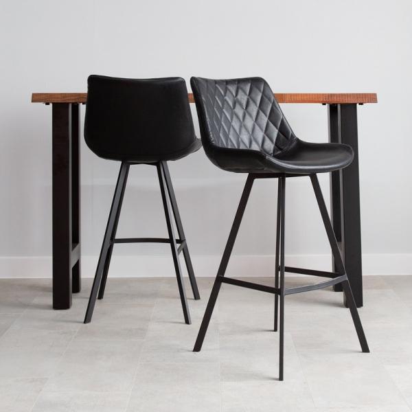 Barkruk vintage zwart comfort
