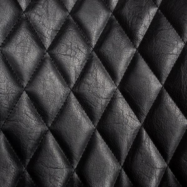 Barkruk vintage zwart geruit