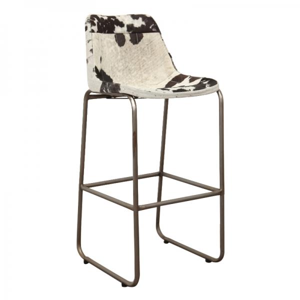 Koeien-barkruk-zwart-wit