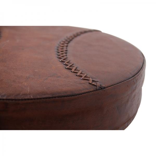 Vintage-industriële-leder-barkruk-bruin