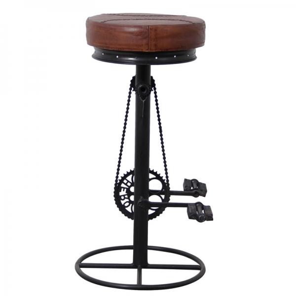 Vintage-industriële-leder-barkruk-stoer